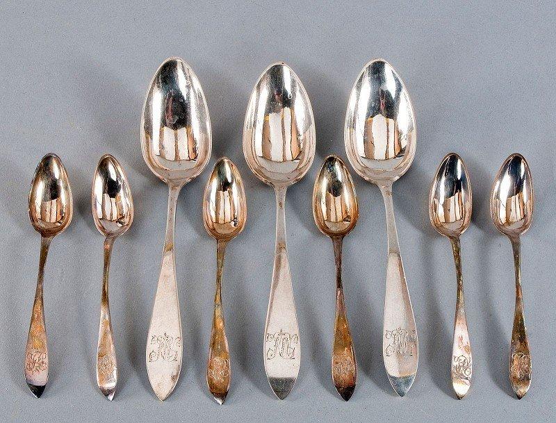 Spoon convolute, silver 13Lot consisting of six dessert