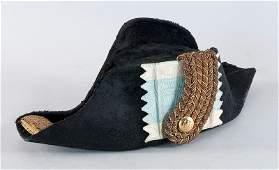 Hat (bicorn) for officers, black mohair, golden broth A