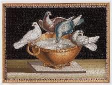 Pietra Dura, Florentine miniature mosaic stone represen
