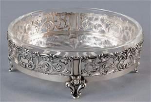 Caviar bowl, use of lead crystal, silver 835er Kaviar
