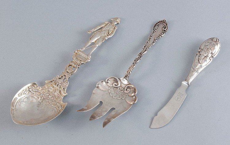 Serving cutlery, fork, butter knife, spoon with Napoleo