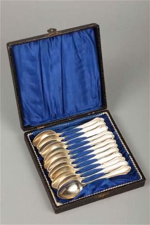 Coffee / tea spoon, 12 pieces, 90'Silberauflage, Wilken