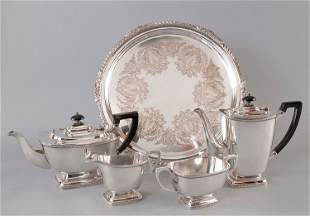 Convolute, Silver Plated, consisting of mocha and teapo
