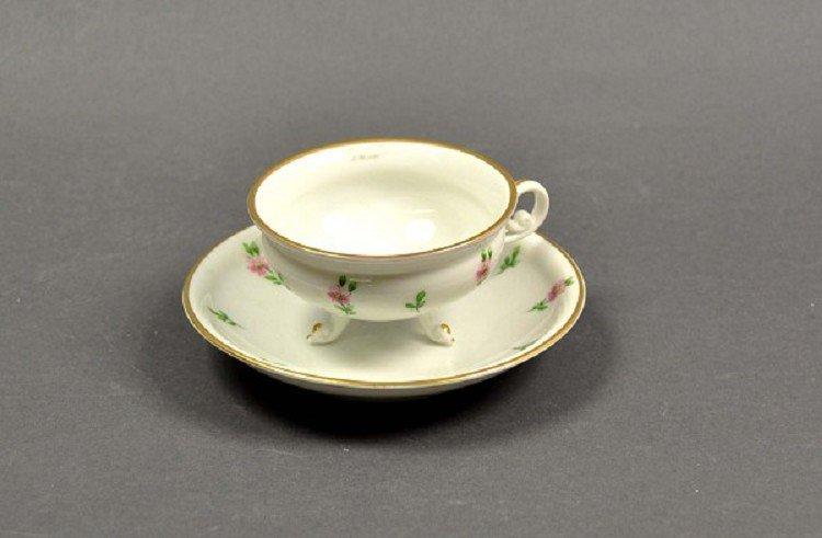 Miniature Sammeltässchen, cup of Biedermeier-style rest