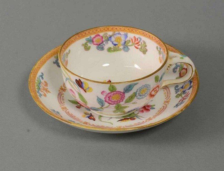 Teacup and saucer, Porcelaine Depot, Minton, VSParis, p