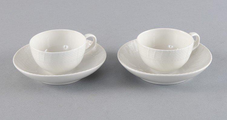 Moccatässchen with saucer, 1 pair, KPM scepter mark, wh