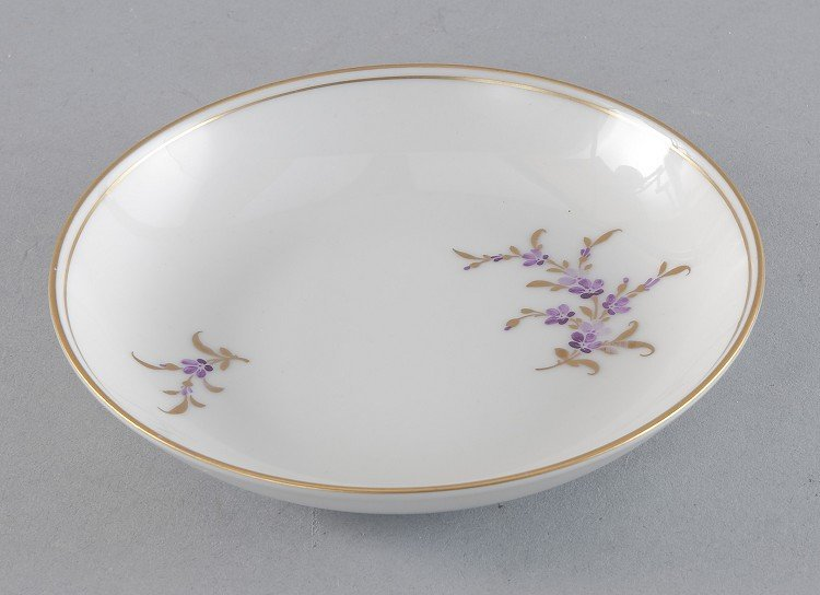 Plates, High, small, floral decor in the sliding-screen