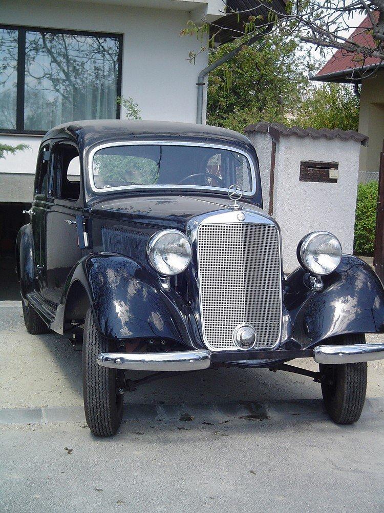 Model Year 1938 Mercedes Benz 170V, black body with ori