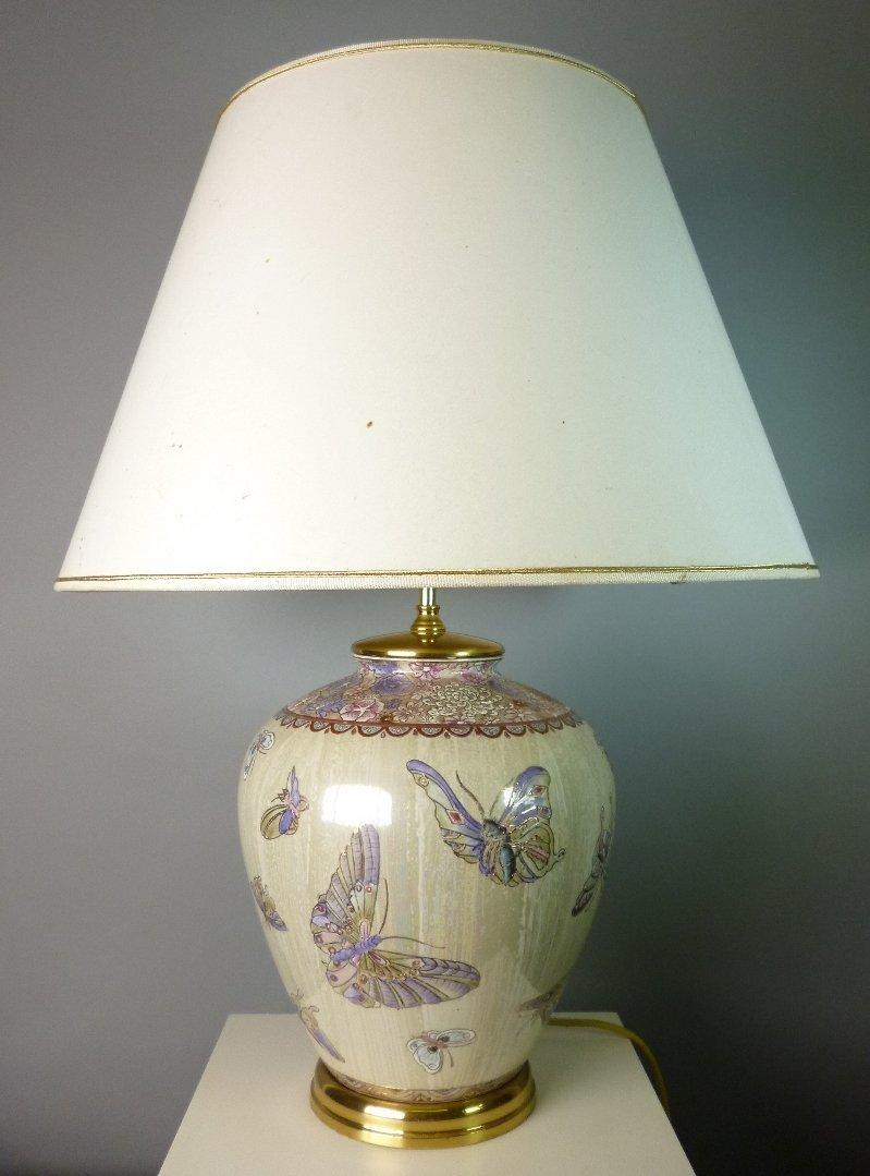 Tischlampe, Porzellankorpus in Form einer