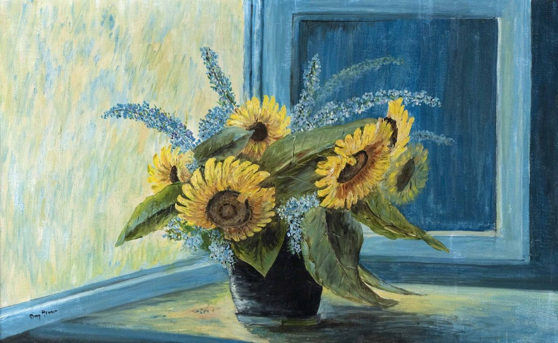 """HENNER, Margarethe """"Sunflowers and Summer Lilac"""""""