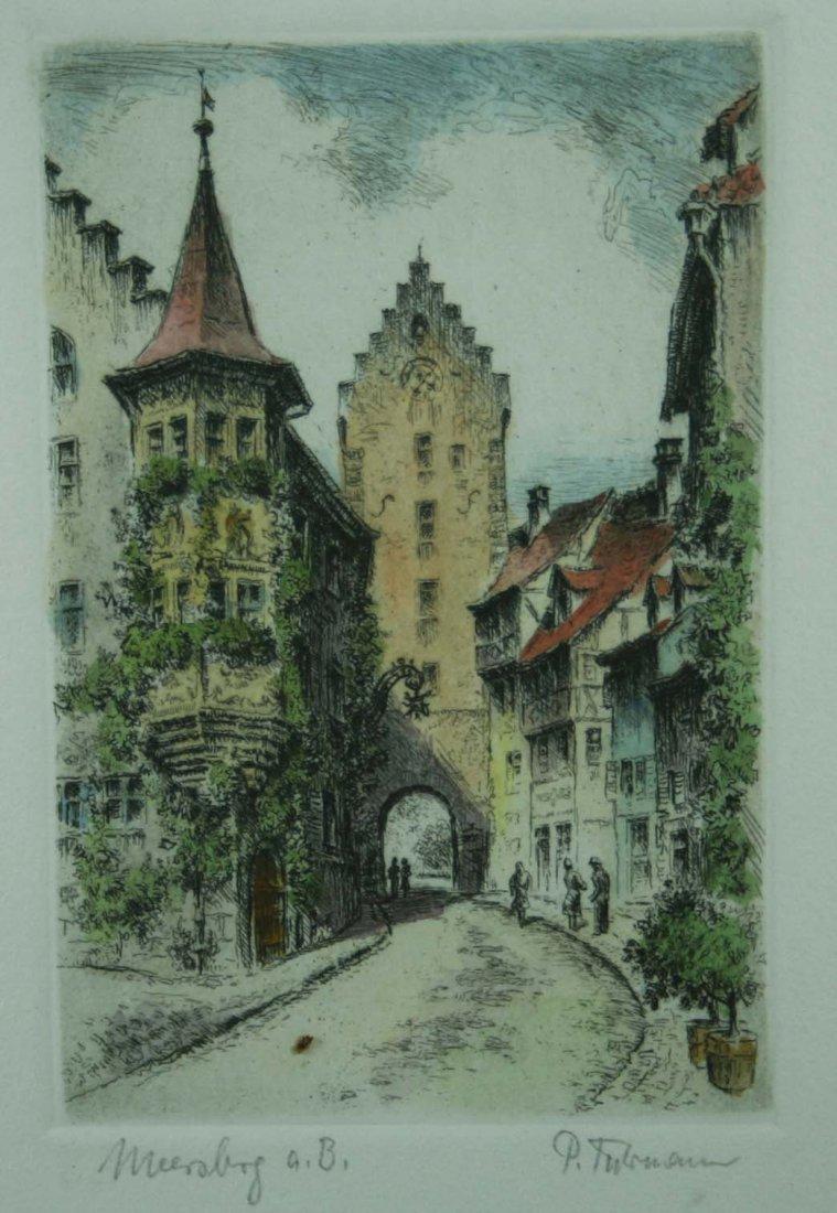 """FUHRMANN (1893-1952), """"Meersburg am Bodensee"""", Original"""