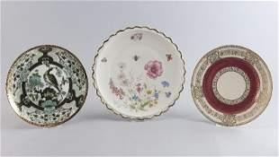 Konvolut Porzellan, bestehend aus: 3 Kuchentellern, 1x