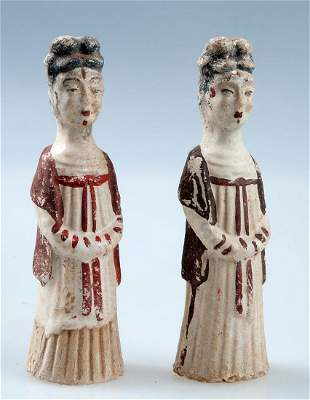 Pair of courtly ladies, China, Sui Dynasty (581-618