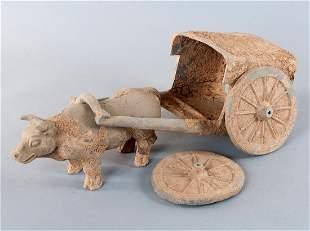 Bullock carts, China, Jin Dynasty (265-420 AD.), Gray