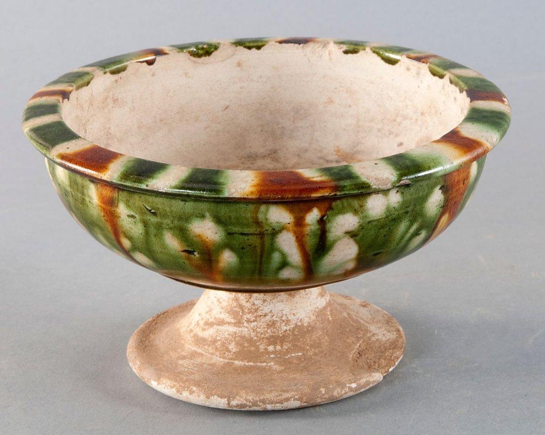 Foot bowl , China, Tang Dynasty (618 907 BC .
