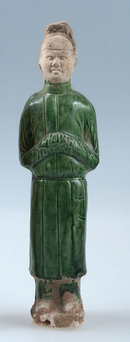 Men standing figure probably servants, China Tang