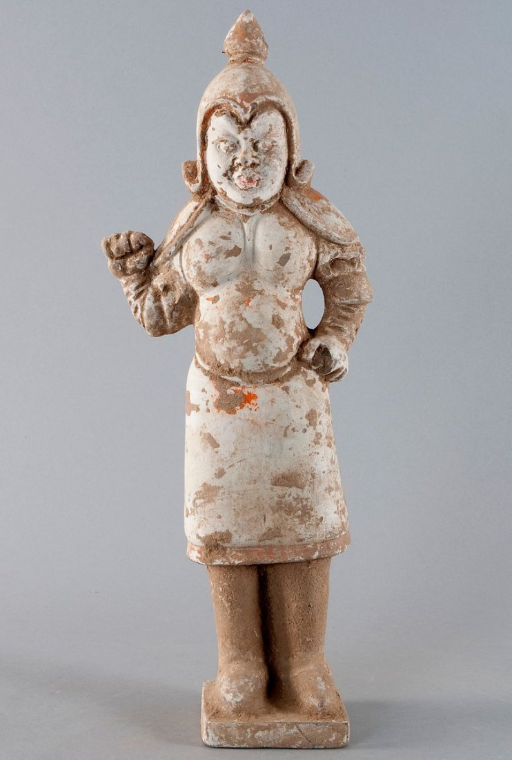 Sculpture of a standing man, China, Tang dynasty