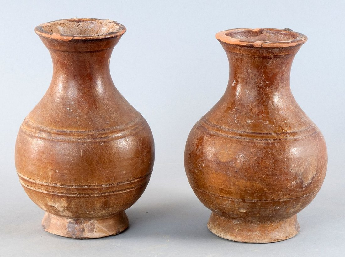 Miscellany of two round vessels , China, Han Dynasty