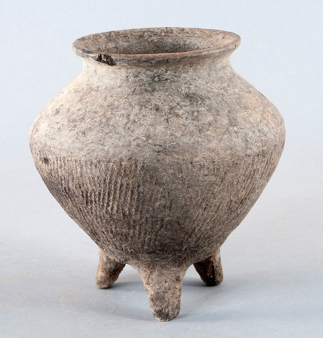 Neolithic Tripod vessel; Xiajiadian Culture