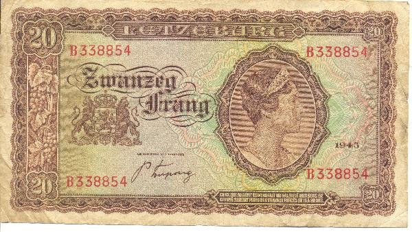 5: Collectible World Currency - Luxembourg Banknotes