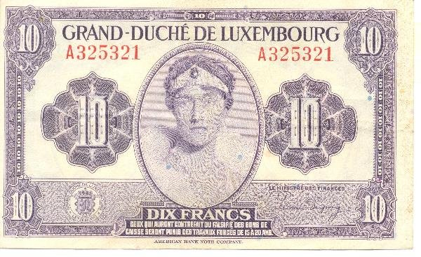 6: Collectible World Currency - Luxembourg Banknotes