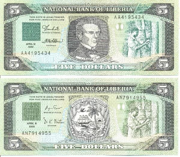8: Collectible World Currency - Liberia Banknotes