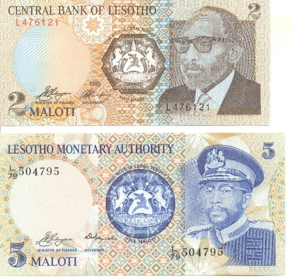 9: Collectible World Currency - Lesotho Banknotes