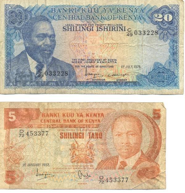 18: Collectible World Currency - Kenya Banknotes