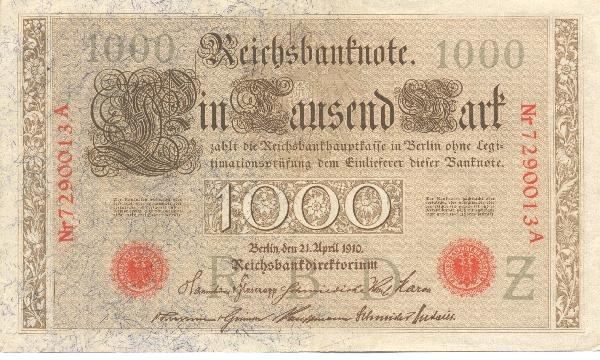 21: Collectible World Currency - German Banknotes