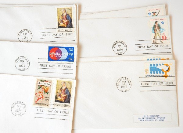 4: 14 US First Day Cover Stamps from 1975