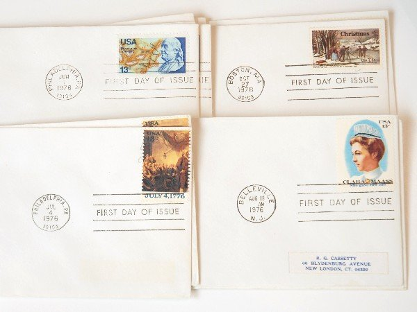 8: 22 US First Day Cover Stamps from 1976
