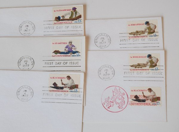 14: 5 US First Day Cover Stamps from 1977