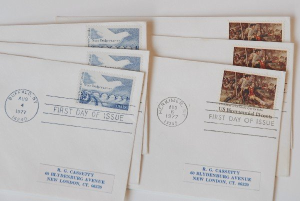 15: 6 US First Day Cover Stamps from 1977