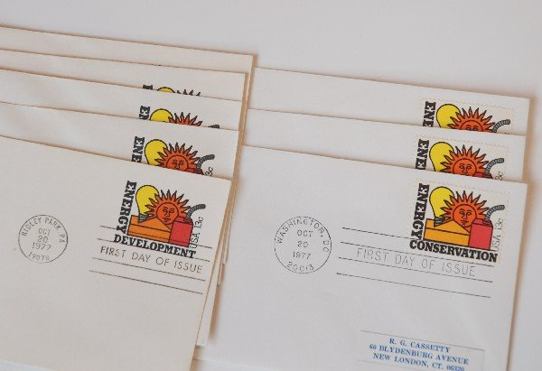16: 9 US First Day Cover Stamps from 1977