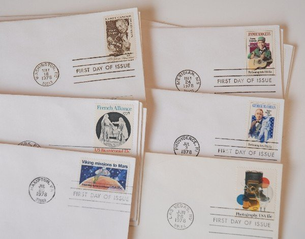 20: 31 US First Day Cover Stamps from 1978