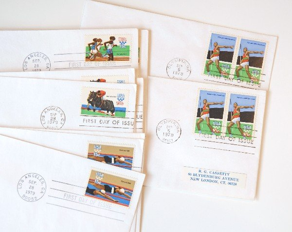 25: 35 US First Day Cover Stamps from 1979