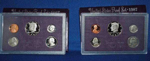 2 1987 Proof Sets