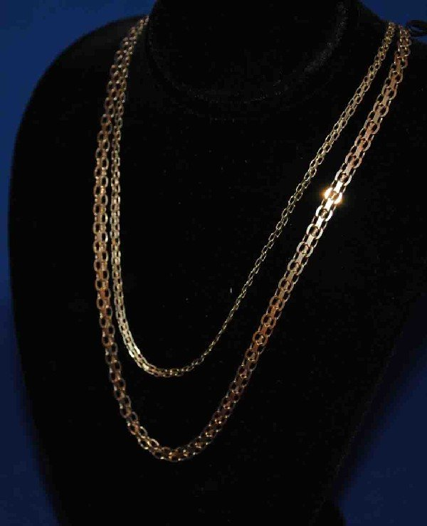 2 18K Gold Chains