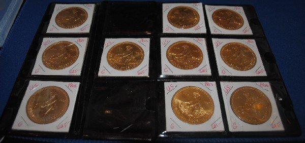 Gilt Silver Coins