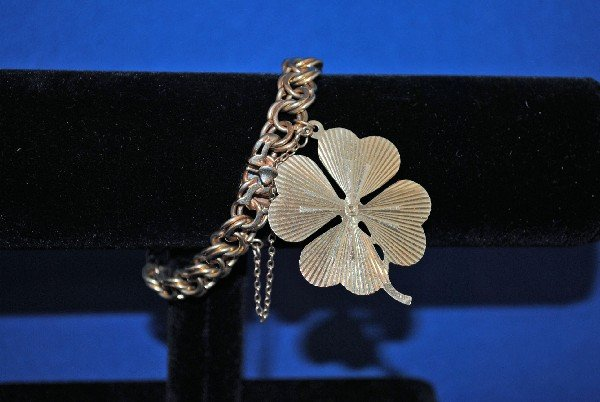 14K Charm Bracelet with Charm