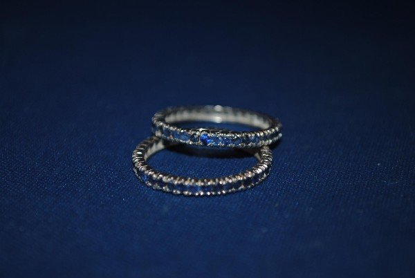 Pair of Sapphire Eternity Bands