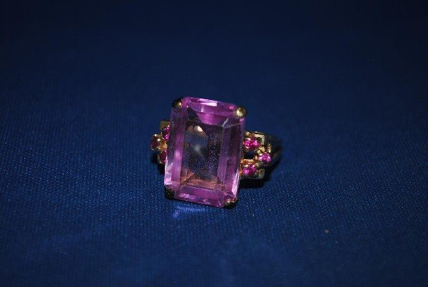 14K Gold Pink Sapphire Cocktail Ring