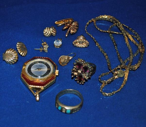 Assorted Gold Filled, Sterling, 14K Gold Jewelry