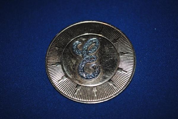 14k Gold Initial Pin/Pendant