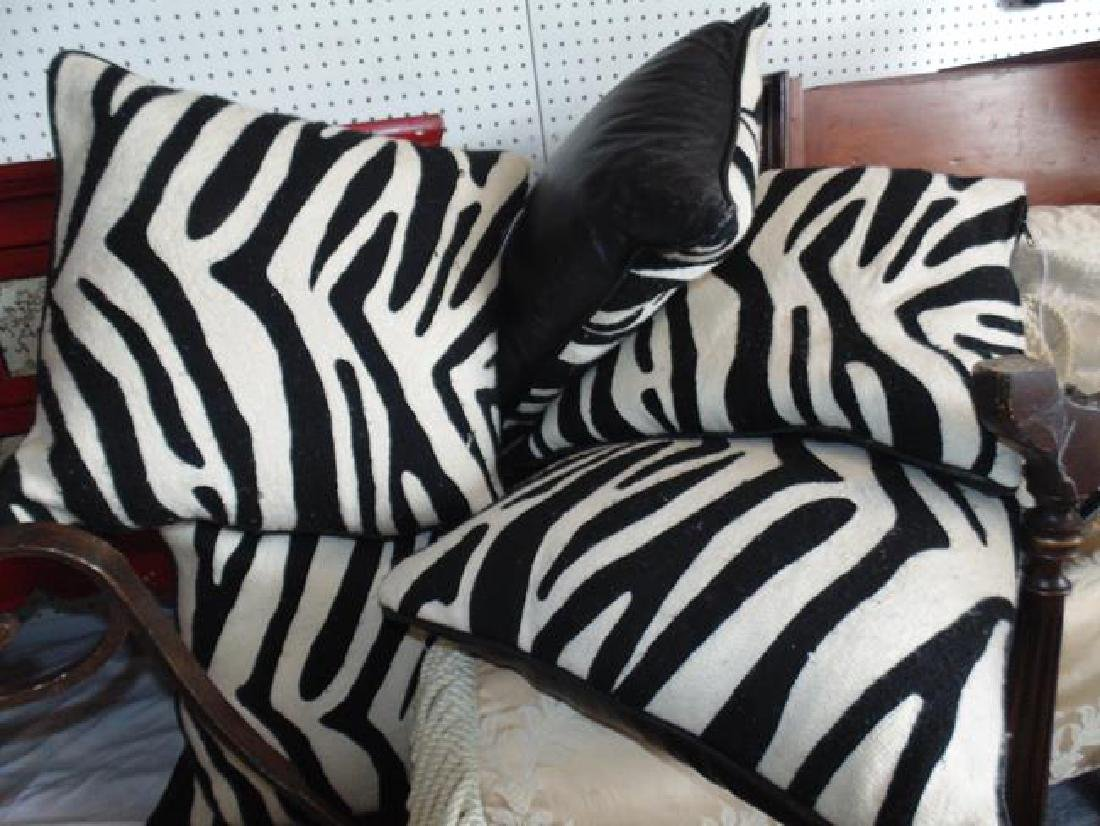Decorative Pillows Zebra Pattern & Leather