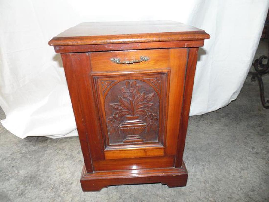Victorian Wood Coal Hod