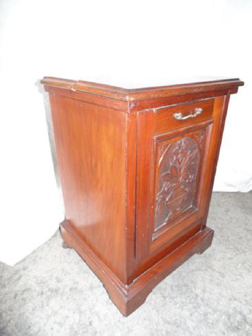 Victorian Wood Coal Hod - 2