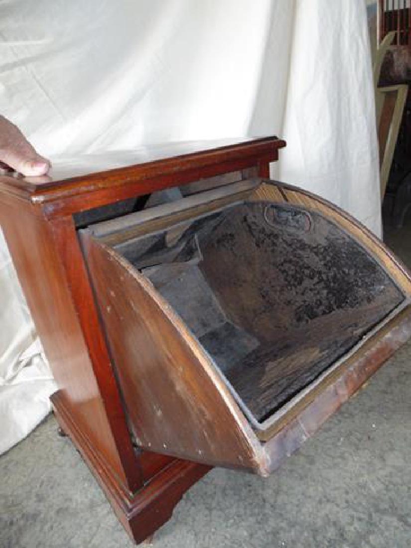 Victorian Wood Coal Hod - 3