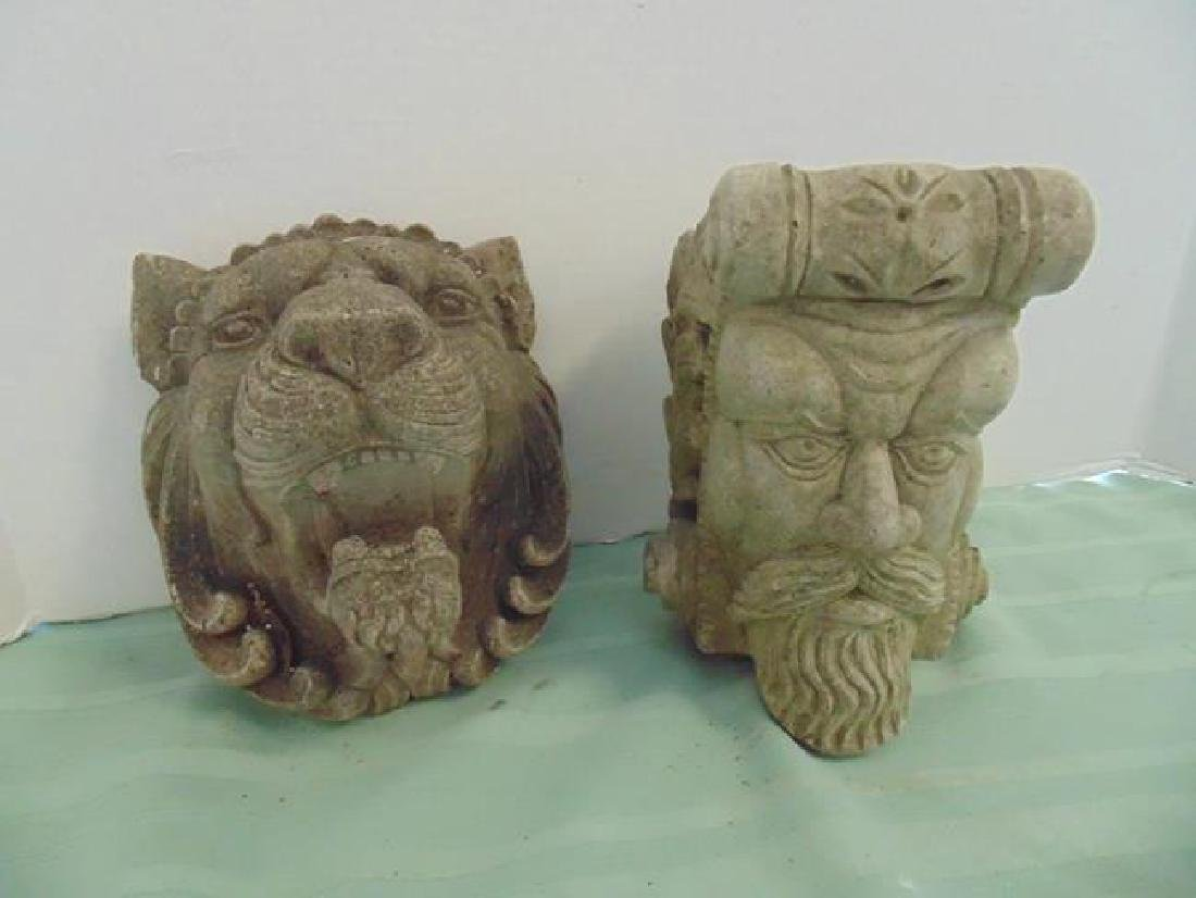Architectural Cement Figure Heads