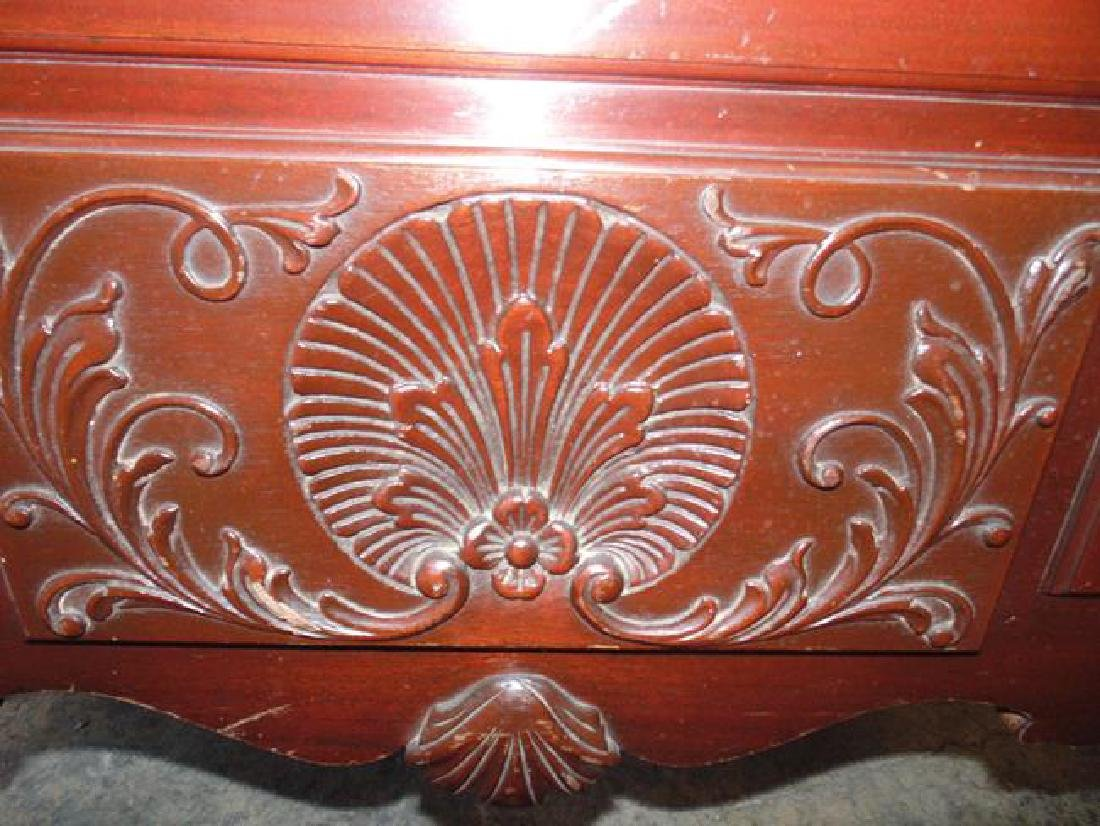 Mahogany Cedar Chest with Shell Carving - 2